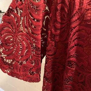 Sharagano 16W Lacy Dress NWT